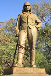 Statue of David Livingstone at Victoria Falls in Zimbabwe