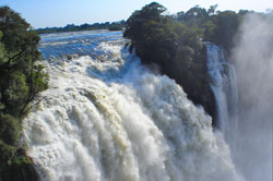 The mighty Victoria Falls in Zimbabwe