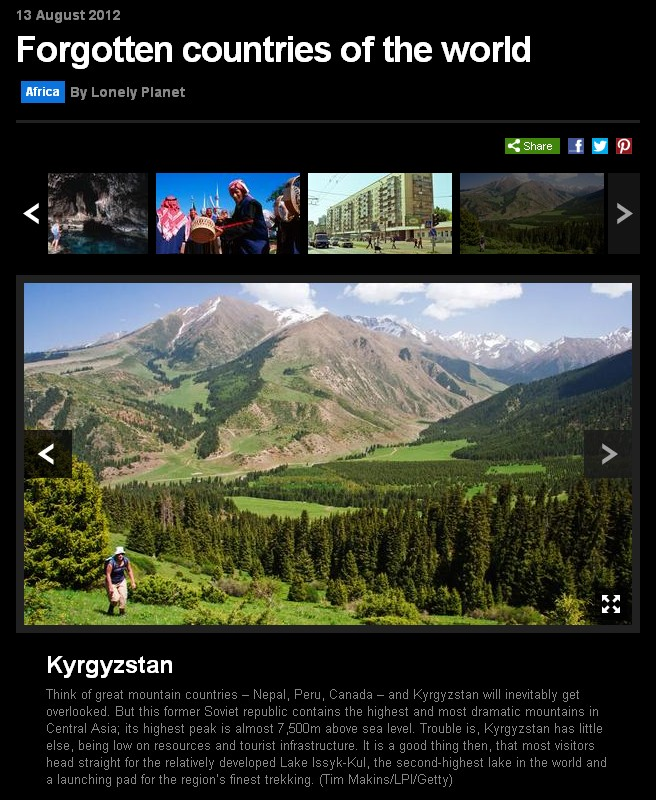 BBC Forgotten Countries of the World photo of Kyrgyzstan