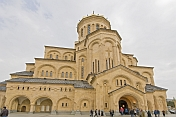 The Eastern Orthodox Sameba Cathedral.
