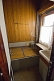 Shower/bathroom in Joseph Stalin\\'s personal railway carriage, at the Stalin Museum.