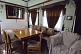 Lounge/dining room in Joseph Stalin\\'s personal railway carriage, at the Stalin Museum.