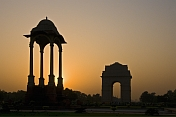 Sunset over India Gate.