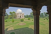 The Shish Gumbad tomb was built during the Lodi period (1421-1526), and now stands in the Lodi Gardens.