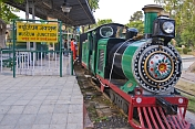 Narrow gauge railway gives rides to visitors at the National Railway Museum.