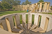 Astronomical instruments at the Jantar Mantar Observatory, built 1728-34.