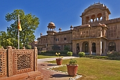 The Lalgarh Palace, once the home of His Highness Doctor Karni Singh, is now a luxury hotel complex.