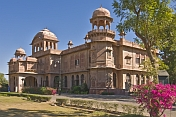 The Lalgarh Palace, built by Maharaja Ganga Singh 1880-1943, is now a luxury hotel complex.