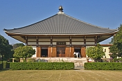 Indian tourists visit the Nipponji Buddhist Temple.