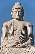 The 20m tall statue of the Buddha, which stands next to the Japanese Temple.