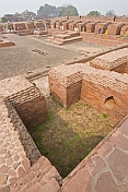 Brick remains of Buddhist monks accomodation halls at one of the worlds oldest Universities, founded in the 5thC AD.
