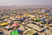 View Of Kumbh Mela Camp From Lal Bahadur Shastri Bridge