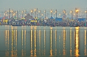 View Of Ganges Yamuna Sangam Bathing Area At Dawn