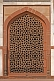 Image of Detail of carved red sandstone Jali Screen on Humayun's Tomb.
