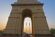 Image of Sunset through 42m high Lutyens-designed India Gate war memorial.