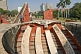 Image of Visitors explore Maharajah Jai Singh II's Jantar Mantar observatory on Sansad Marg.