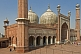 Image of Domes and minarets of Shah Jahan's 1644 Jama Masjid in the heart of Old Delhi.