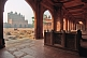 Image of Walkway and courtyard tombs of Akbar's Jami Masjid in early morning light.