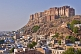 The Meherangarh Fort in early morning light towers over the city of Jodhpur.