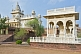 Image of White marble tombs and the Jaswant Thada, a memorial to commemorate Jaswant Singh II was built 1899.