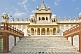 Image of The white marble Jaswant Thada, a memorial to commemorate Jaswant Singh II.