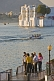 Image of Guests of the Lake Palace Hotel wait for the next launch to take them to Jag Niwas Island.