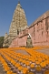 Image of Floral tributes to the Buddha left by pilgrims visiting the Mahabodhi Temple.