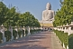 Image of The 20m tall statue of the Buddha is visited by many Buddhist pilgrims.