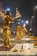 Image of Evening 'Aarti' or fire puja performed by Hindu priests on the banks of the Ganga River.
