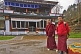 Image of Two young trainee monks at a Buddhist Monastery.