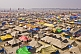 View of Maha Kumbh Mela tent city from Lal Bahadur Shastri Bridge.