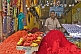 Image of Festival stall sells colored powder known as Sindoor or Goolal or Kum-kum powder.