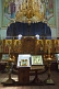 Image of Icons and gold chandelier in Saint Nicholas Cathedral.
