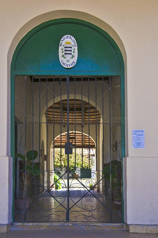 Gated entrance to the Municipalidad Cafayate offices.