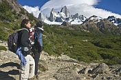 Trekking to the Fitzroy Mountains in the Parque Nacional Los Glaciares.