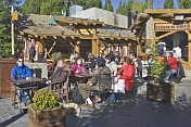 Open-air cafe in central Calafate.