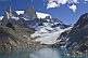 Image of Fitzroy Mountains and glacier in the Parque Nacional Los Glaciares.