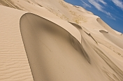 Sand dunes at the 'Singing Dunes' - Khongoryn Els, the largest and most spectacular dune system in the country.