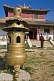 Image of Incense burner and monk at Shanhyn Monastery.