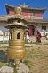 Image of Incense burner and monks at Shanhyn Monastery.