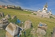 Image of Stupa and ancient ruins at the Erdene Zuu Khiid (Hundred Treasures Monastery).