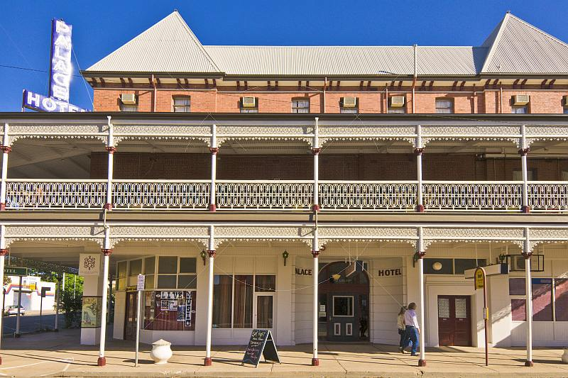 Heritage-listed Marios Palace Hotel built 1888 appeared in Priscilla Queen of the Desert.