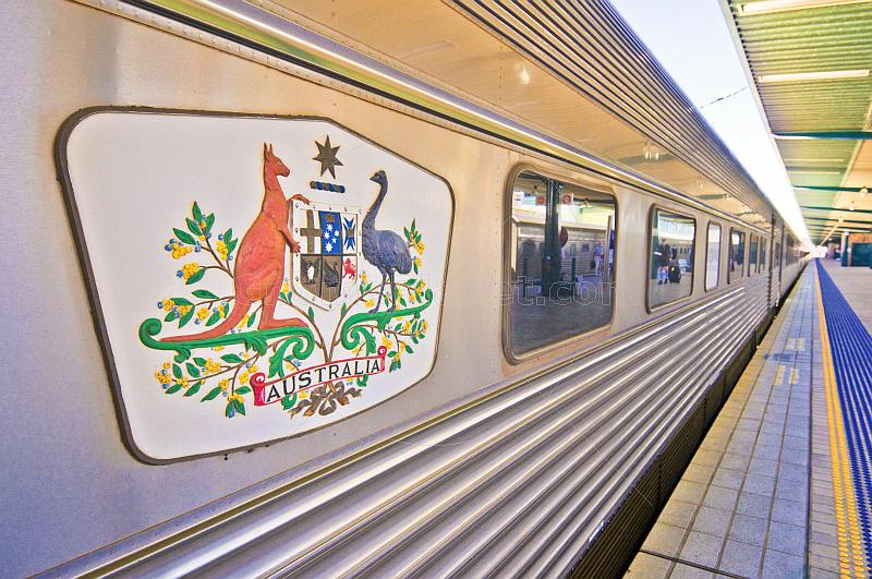A private Great Southen Rail carriage waits at the Sydney Central Station
