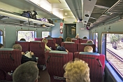 Interior of Red Class carriage on the 'Indian Pacific'