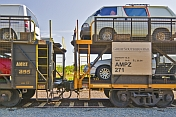 Two Great Southern Rail Car-Transporter wagons