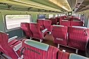 Interior of Red Class carriage on the 'Ghan' train