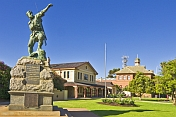War Memorial and Court House on Argent Street in Broken Hill