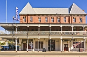 Frontage of Marios Palace Hotel built 1888 appeared in Priscilla Queen of the Desert.