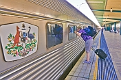 Man peeps into GSR private carriage at Sydney's Central Station