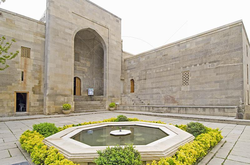 Courtyard of the Divan Xana, where the court of Shirvanshah Khalilullah I once assembled.